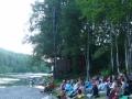 Вечерняя медитация на берегу реки Утулик. Река впадает в Байкал, и если идти вдоль ее берега, то через полчаса можно подойти к Байкалу